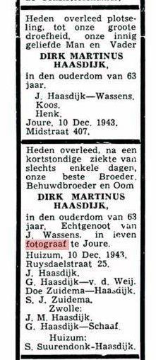 advertentie LC 13 dec. 1943